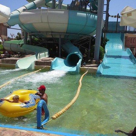 Coral Sea Aqua Club Resort: End of the slide...