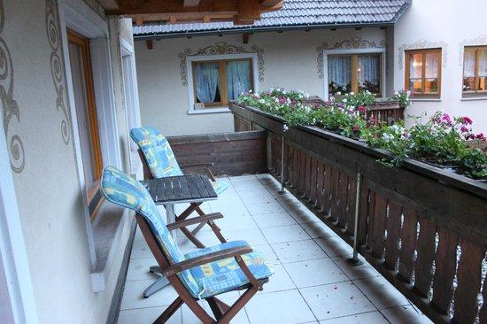 Gasthof Hirschen-Dorfmühle: Balcony