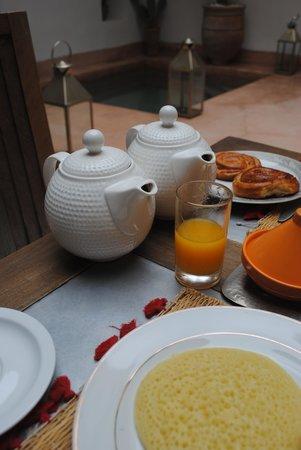 Riad de Vinci: Magnífico desayuno
