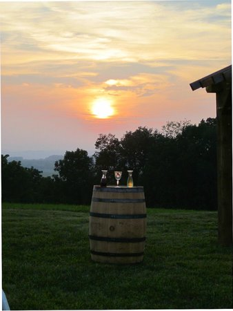 Warwick Valley Winery: Ceremony on top of Orchard