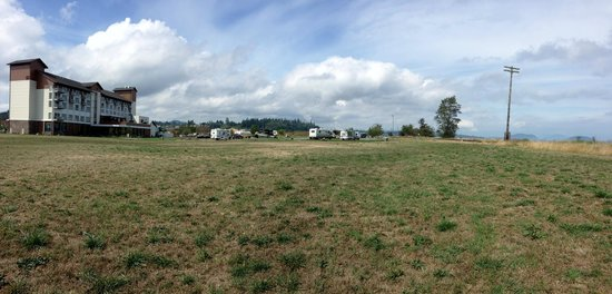 Swinomish Casino & Lodge : Panoramic view from behind lodge and rv park