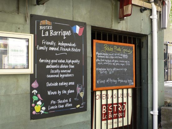 Bistro La Barrique: The specials menu at la barrique