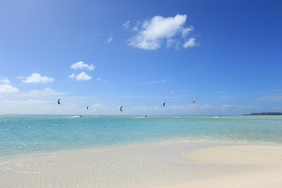 Kiteboard Aitutaki : Kiters out and about