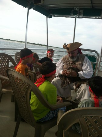 Blockade Runner Beach Resort: pirate trip-- great pirate~!  lots of fun for kids!!