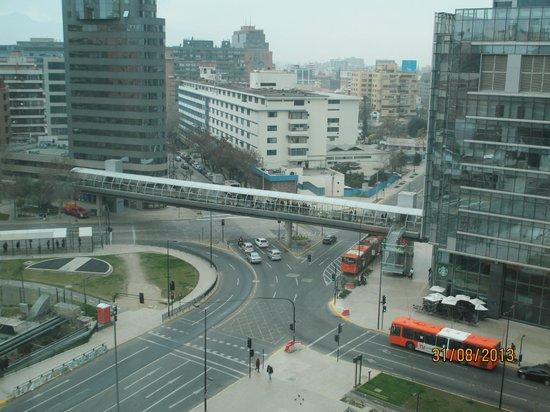 NH Collection Plaza Santiago: vista desde  la habitacion parte del mall center