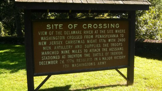 Washington Crossing State Historic Park: actual site crossing