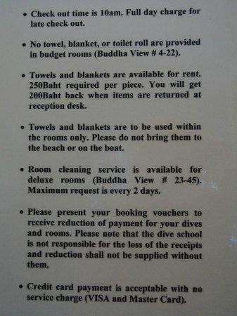 Buddha View Dive Resort: I servizi offerti