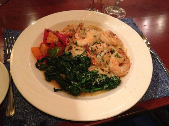 Dockside Restaurant on York Harbor: Shrimp Linguini