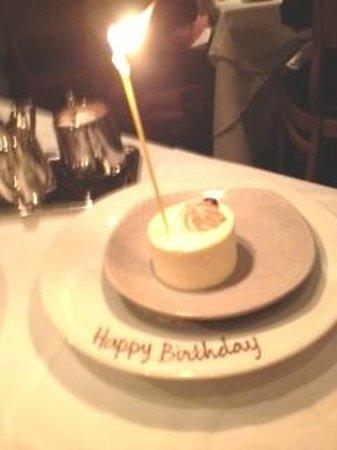 Restaurant Gary Danko : complimentary birthday dessert