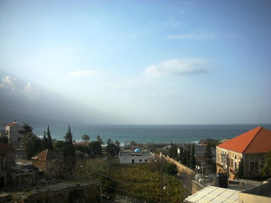 Aleph Boutique Hotel: View of Byblos ruins & city from room window