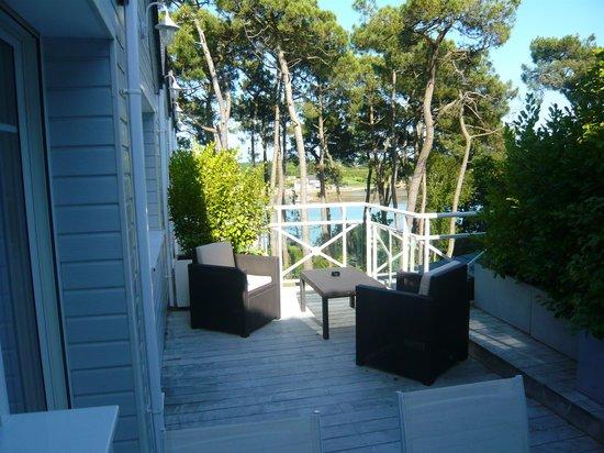 La Villa Bel Ange : sute Zachariel la terrasse