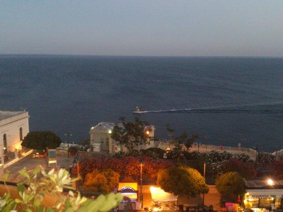 Grand Hotel Mediterraneo: Vista del mare dalla terrazza dell'albergo