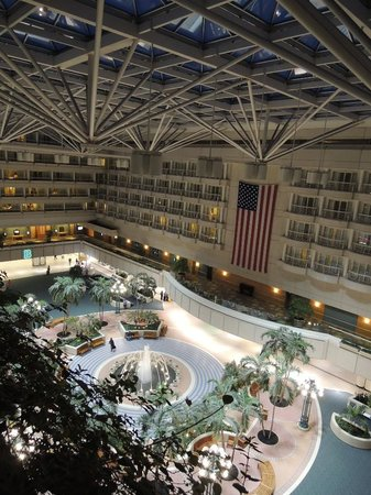 Hyatt Regency Orlando International Airport: View from our balcony