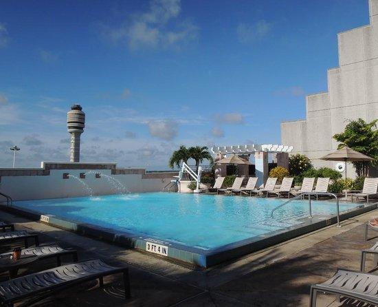 Hyatt Regency Orlando International Airport: Pool. Overlooks the airport.
