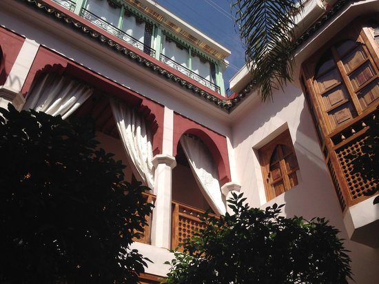 Riad Sadaka: View from courtyard