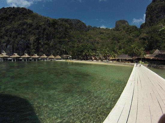 El Nido Resorts Miniloc Island: Miniloc deck view