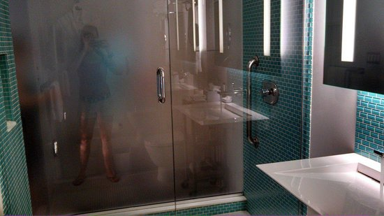 Le Meridien Chambers Minneapolis: Rain Shower head from ceiling and multiple wall jets.