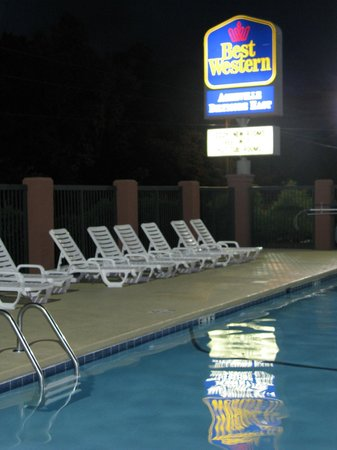 Best Western Asheville Tunnel Road: Pool at night
