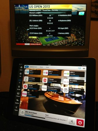Arendal Maritime Hotel: iPad controlling the TV