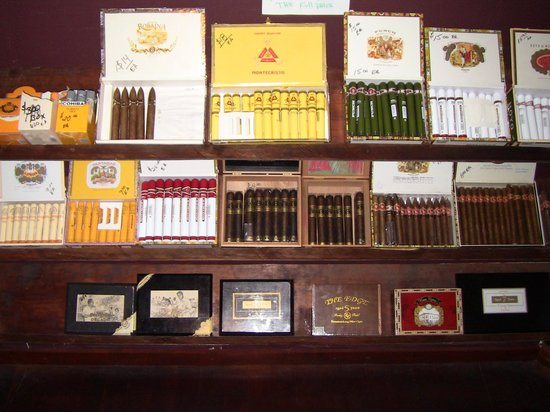 West End Cigar Bar: Some of the cigars.
