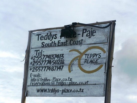 Teddy's Place: Business card :)