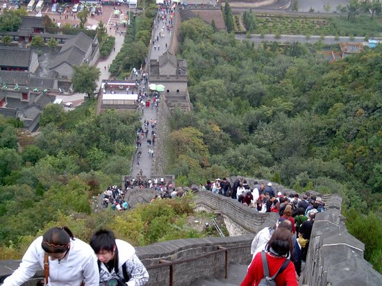 Great Wall Adventure Club : up the stairs at Great Wall of China