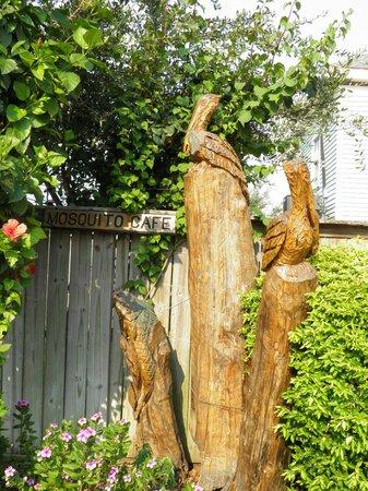 Tree Sculptures: pelicans