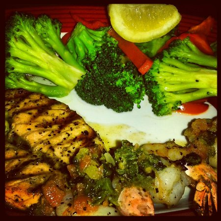 TGI Friday's: My Salmon And Shrimps Meal