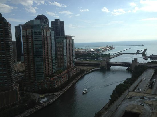 Swissotel Chicago: View from our corner king suite- RM 2524