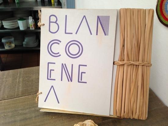 Blanco Enea : Menue