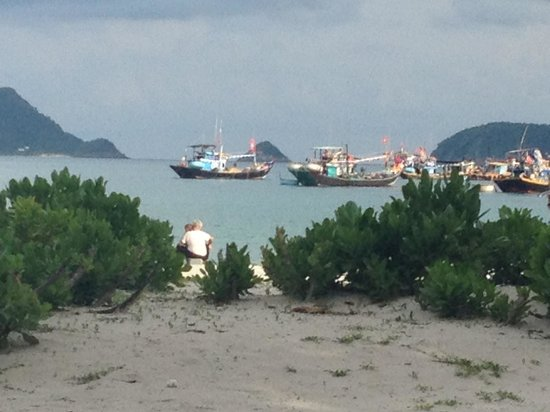 Con Dao Camping: The beach 5 steps away from the bungalows