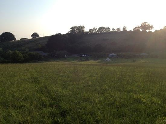 Blackdown Yurts - Yurt Holidays in Devon: view from the hill