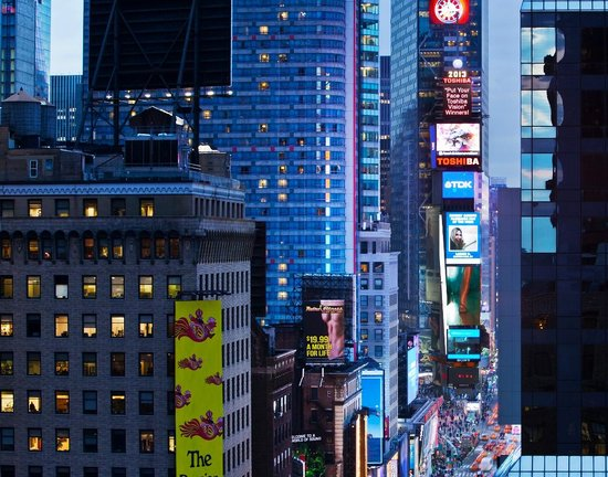 The Manhattan At Times Square Hotel View Of From Our Ball Drop