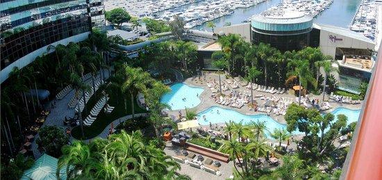 Marriott Marquis San Diego Marina: Eighth Floor View....ROY'S Restaurant