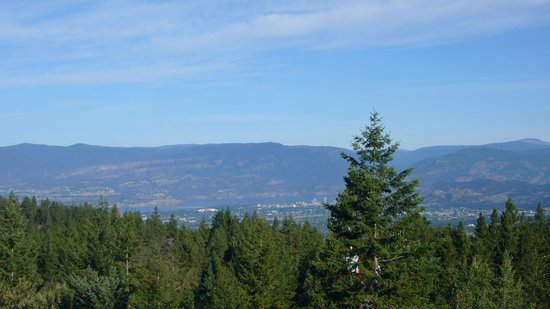Myra Canyon Ranch: view from patio