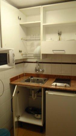Apartamentos Turisticos Elegance Resitur : Кухонька