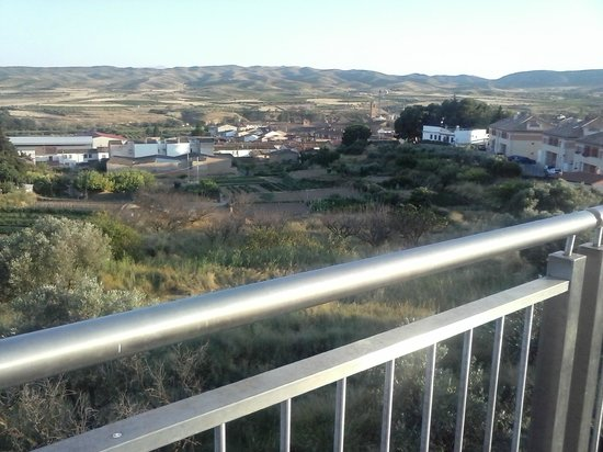 Fitero, Spain: 9.- View of the Town, the Abbey and some Huertas