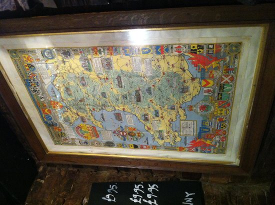 The Castle Inn: Map on the wall