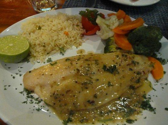 El Carnicero: Garlic butter fish