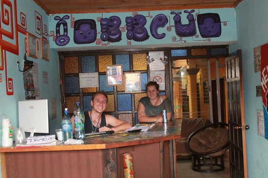 The Terrace Hostel: Front Desk with Jason and Nanna