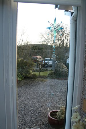 The Railway Cottage: View from the conservatory