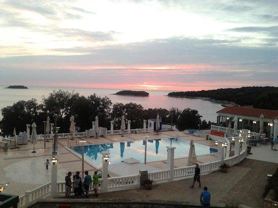 All-inclusive Resort Funtana: tramonto dalla camera