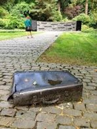 Oregon Holocaust Memorial: Victim Artifacts strewn about the monument evoke emotional reactions