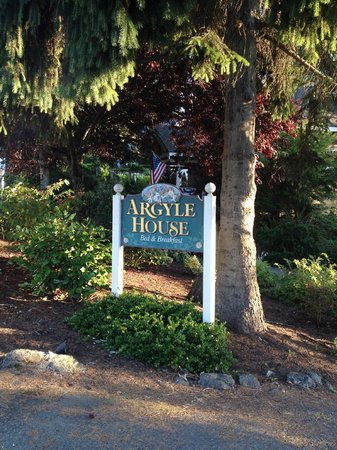 Argyle House Bed and Breakfast: Sign