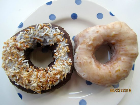 The Holy Donut: Dark Chocolate Coconut and Fresh Lemon Juice Donuts