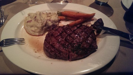 Top of Binion's Steakhouse: 16 Oz ruby was delicious!