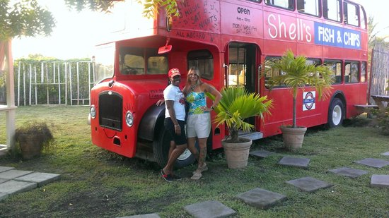 Shell's Double Decker Fish & Chips : Bev and I