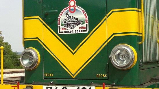 Sargan Eight Railway: la locomotrice del treno Sargan 8 a Mokra Gora (Serbia)