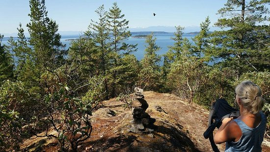 The Sunshine Coast Trail - Day Tours : Looking out at Desolation Sound