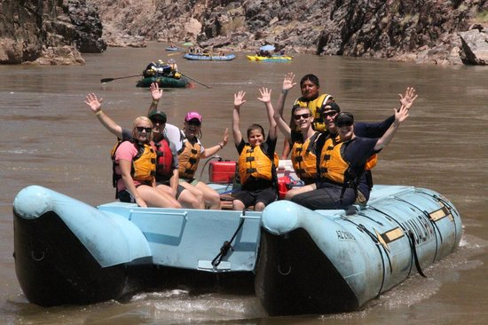 Hualapai River Runners : On the raft